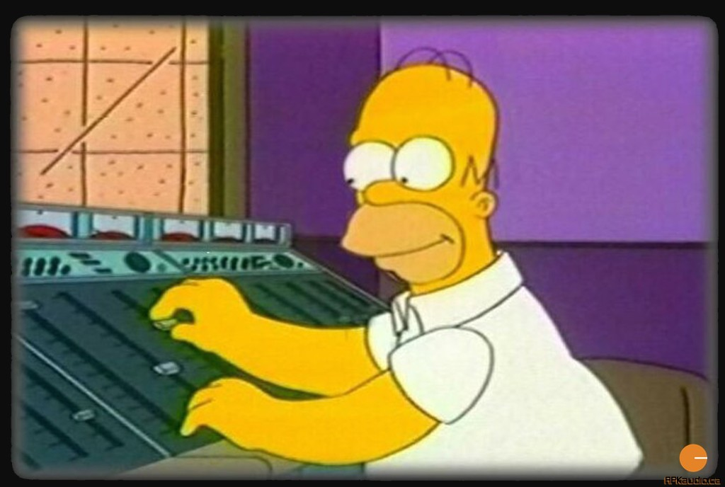 Homer Finds a new Passion... dusting and polishing mixing console